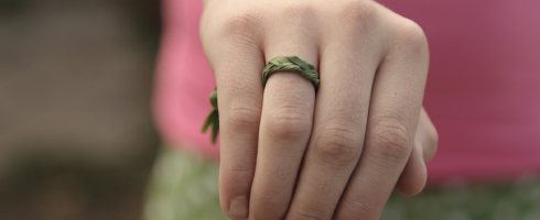 braided grass ring