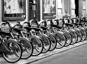 Urban bike sharing programs have been introduced around the world (pictured above is London)