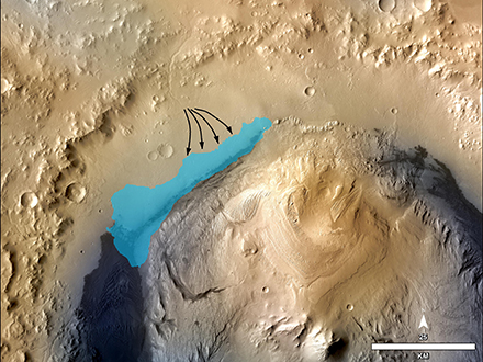 Evidence of an Ancient Freshwater Lake Found on Mars