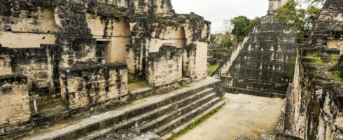 Mayan ruins in the city of Tikal. The Mayans may have disappeared due to poor water management.