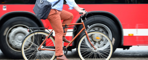 Reducing pollution intake while walking or cycling